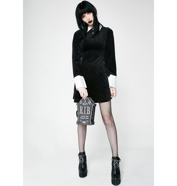 Killstar Addams Velvet Dress