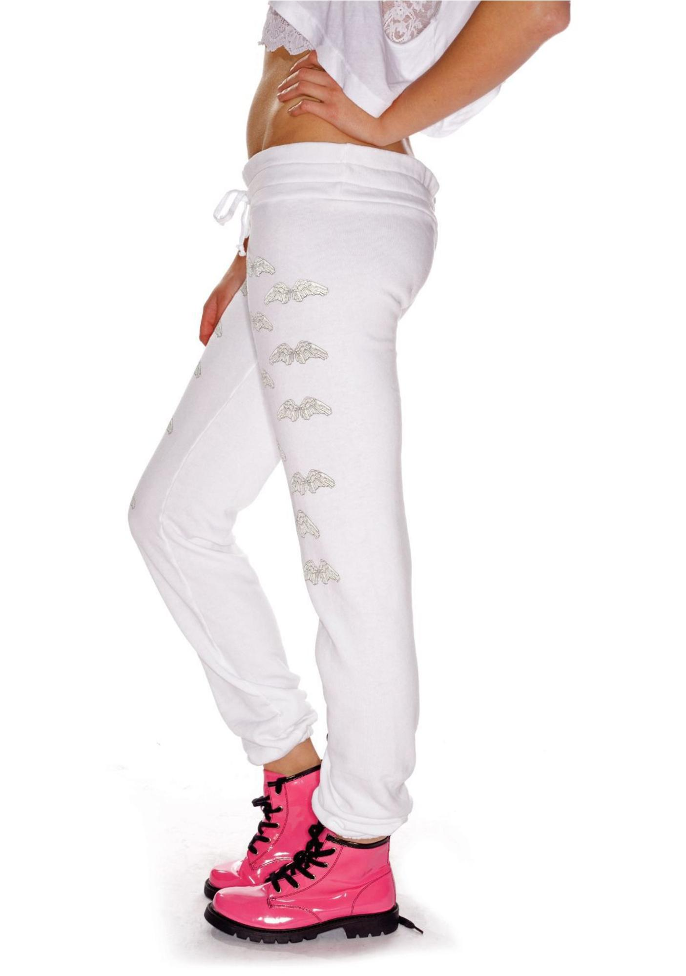 Wildfox Couture Heaven Sent Pants Skinny Sweats