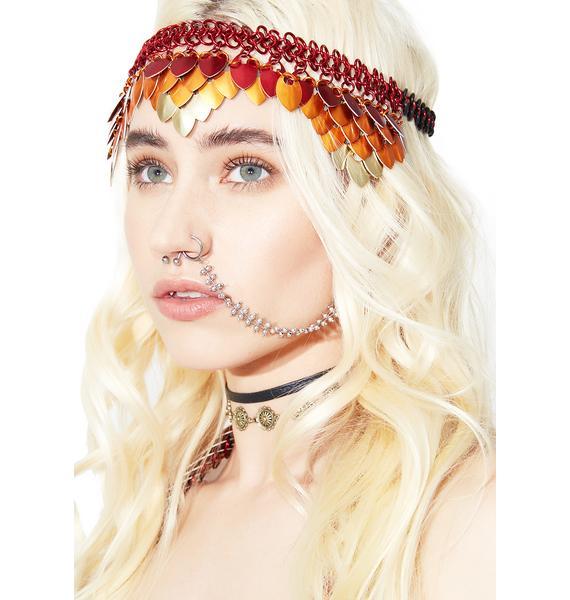 Firebird Priestess Chainmail Headdress