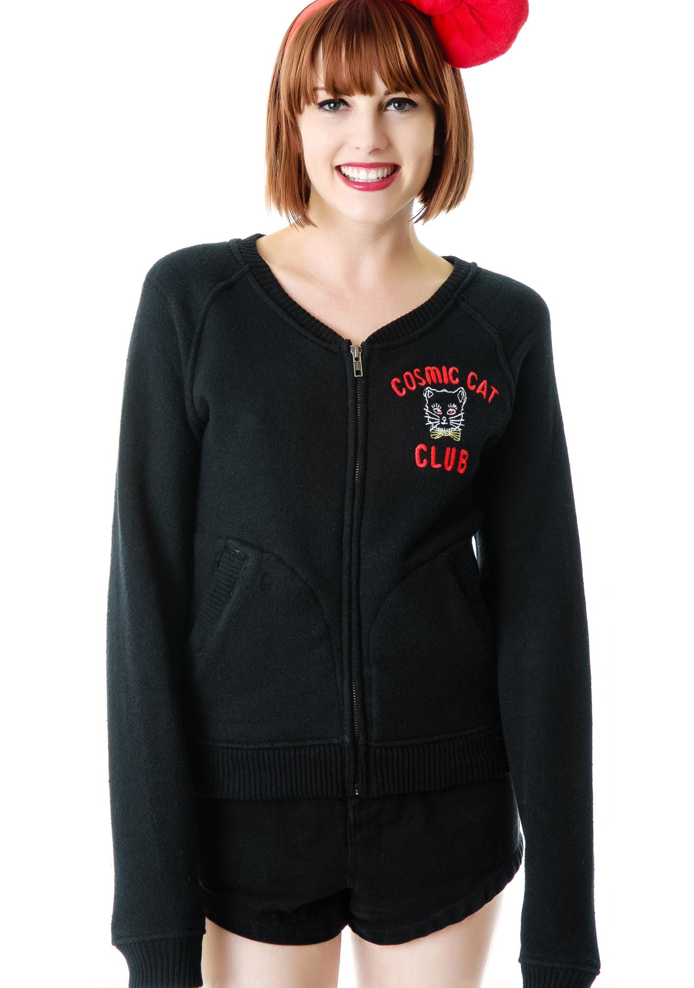 Junk Food Clothing Cosmic Cat Club Zip Up Jacket