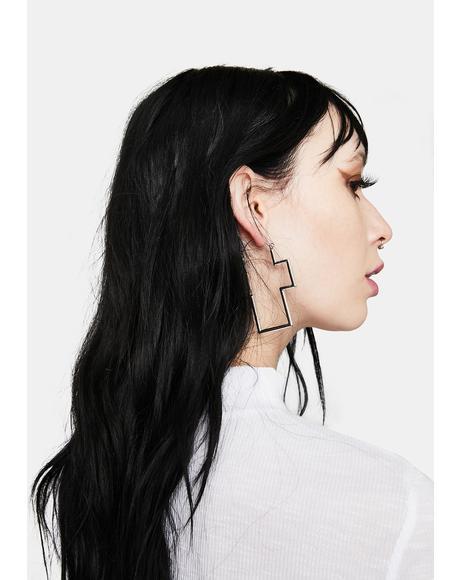 I Won't Pray For You Cross Earrings