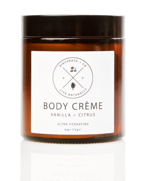 Vanilla + Citrus Body Creme