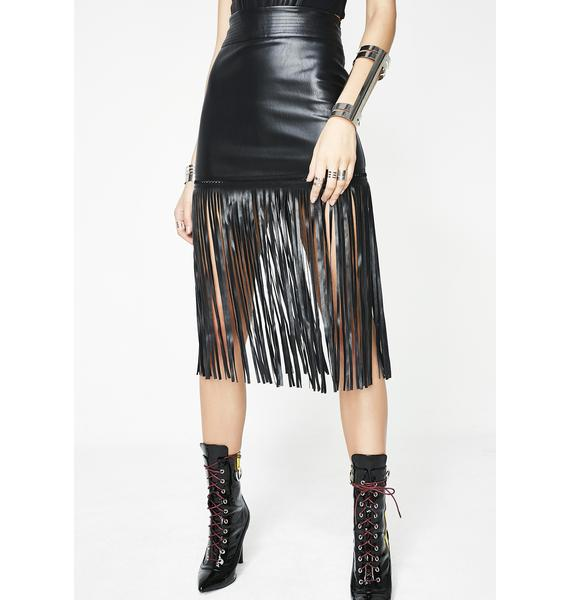 MINI FRINGE SKIRT