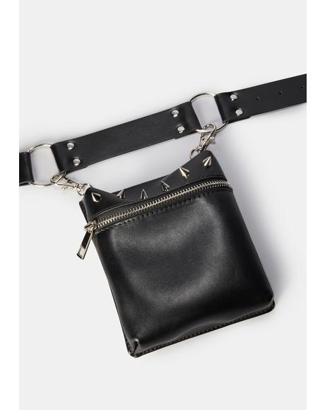 Evil Doesn't Wait Crossbody Harness Belt Bag