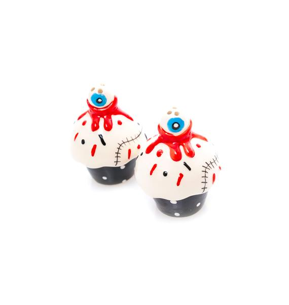 Sourpuss Clothing Bloody Cupcakes Salt and Pepper Shakers