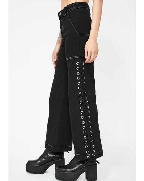 Street Drifter Lace-Up Pants