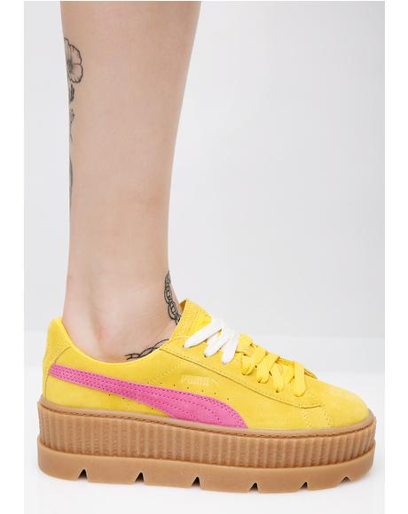 Lemon FENTY PUMA By Rihanna Cleated Suede Creepers