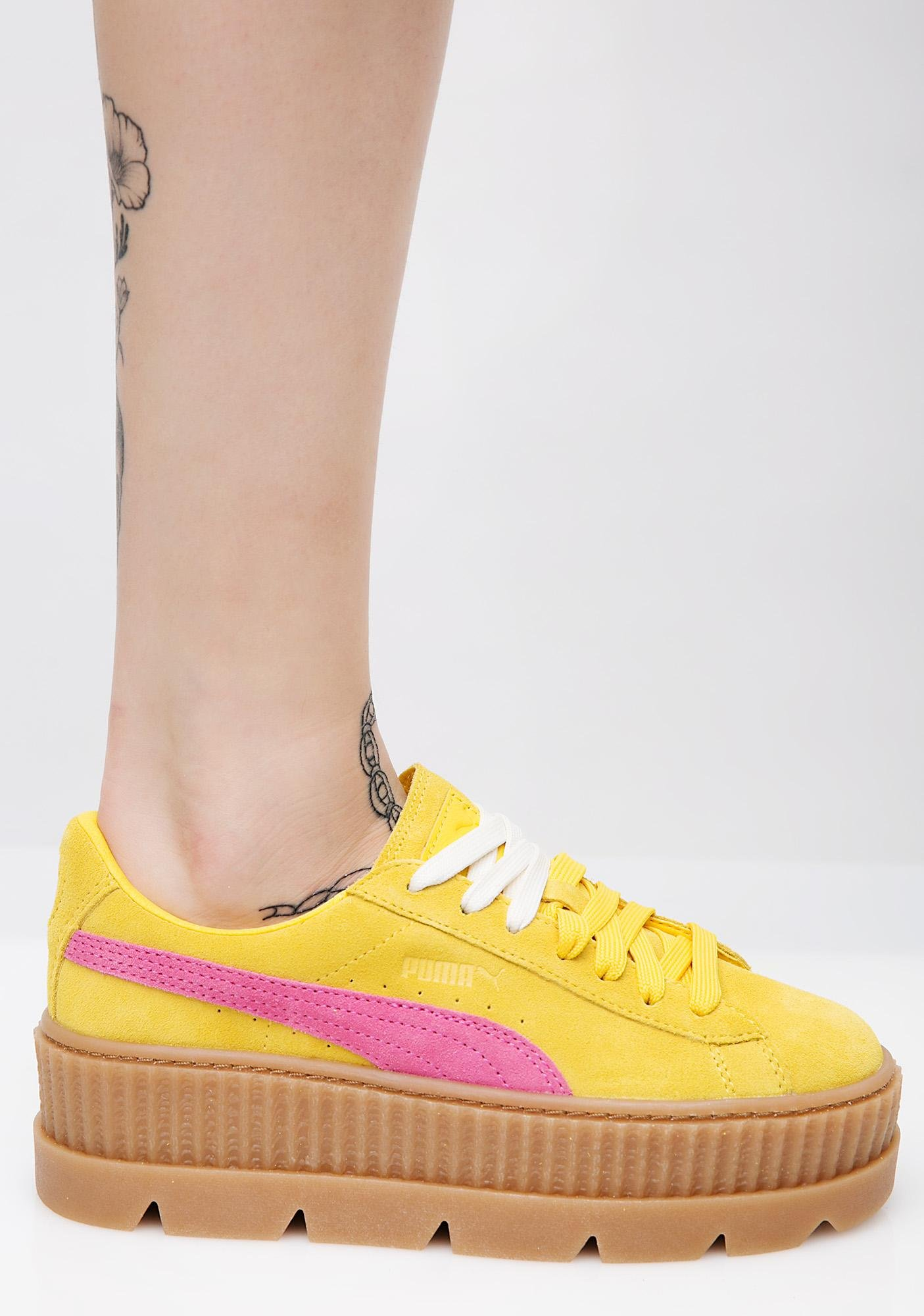 PUMA Lemon FENTY PUMA By Rihanna Cleated Suede Creepers
