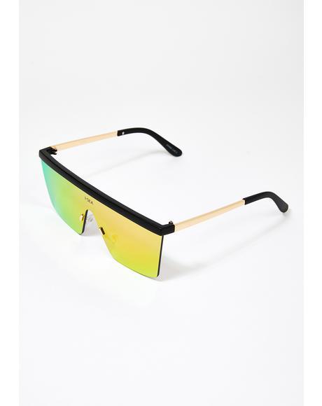 Purple Phoenix Shield Sunglasses