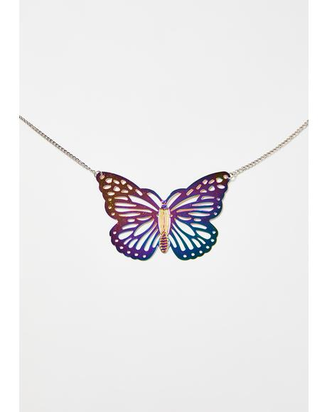 On The Wing Holographic Necklace