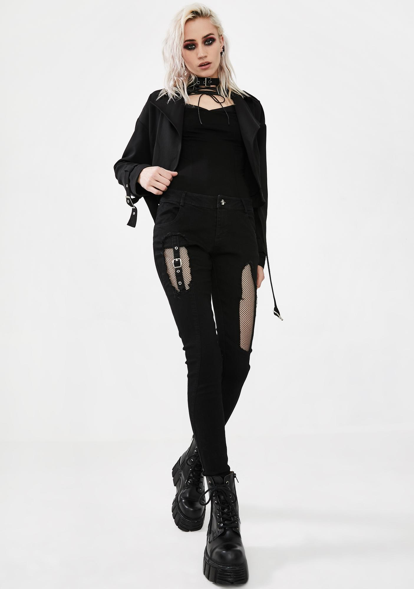 Punk Rave Steampunk Wild Assassin Lace-Up Keyhole Top