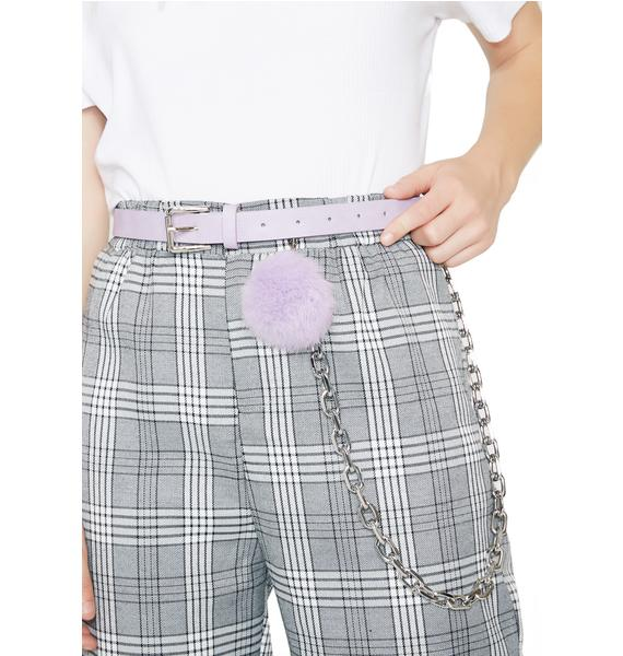 Cute As A Button Pom-Pom Belt