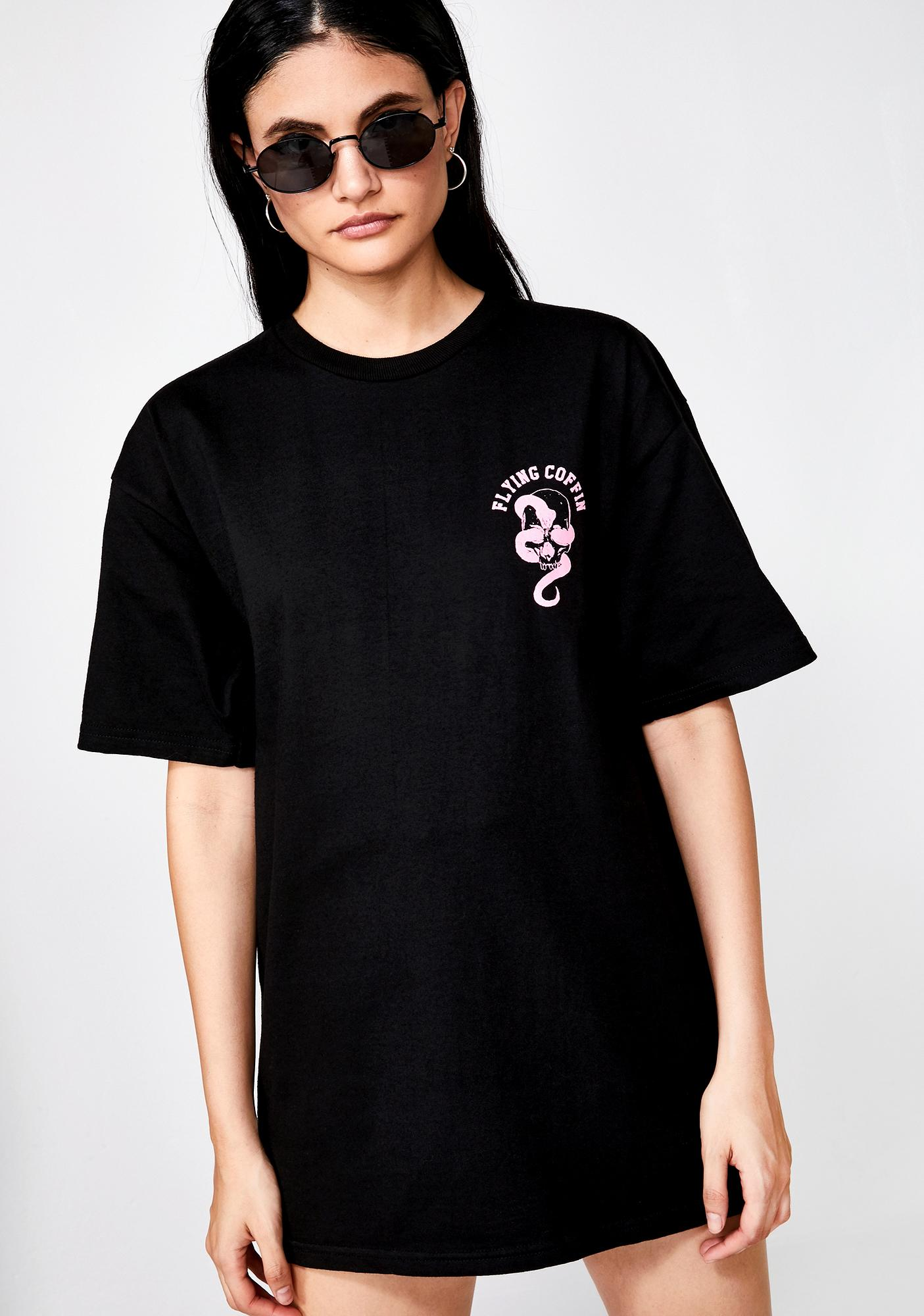 Flying Coffin Just Death Tee - BLACK