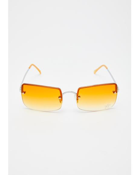 Sunset Easy Lovin' Square Sunglasses
