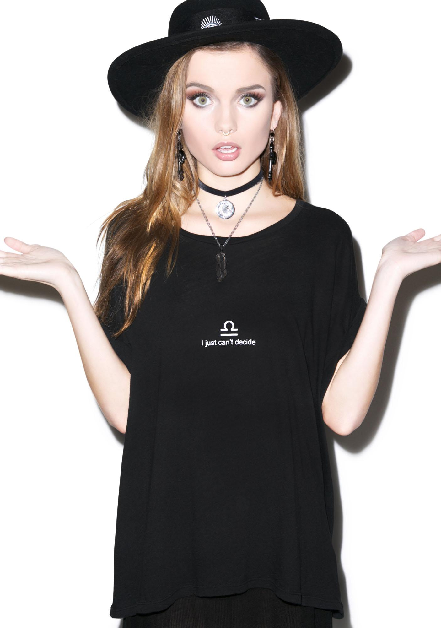 Wildfox Couture Libra Astrology Boy Tee
