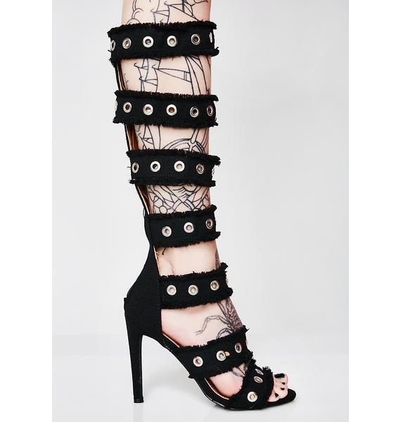 Dark Not Playing Anymore Grommet Heels