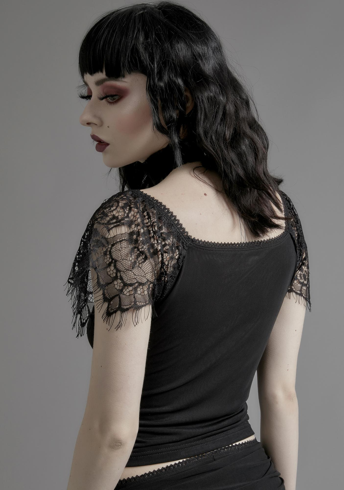 Widow Enchanted Marionette Lace Top