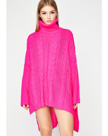 Sounds Tempting Oversized Sweater