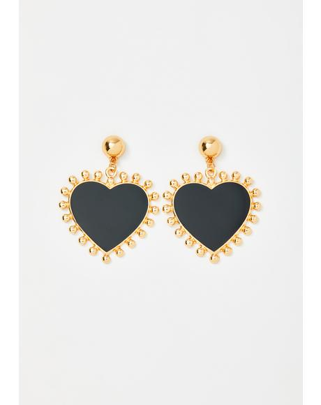 Her Love Glows Bright Heart Earrings