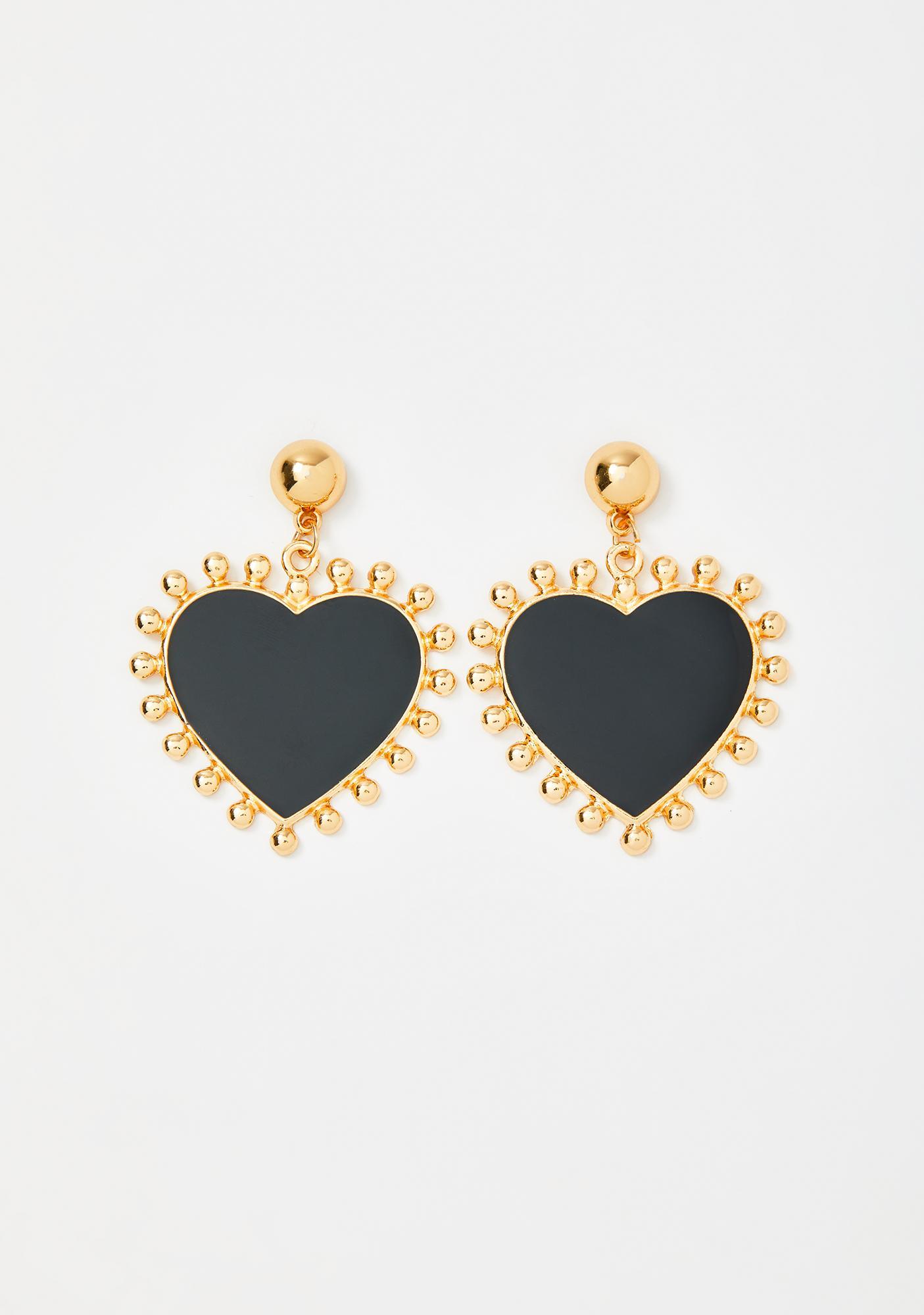 Her Love Glows Bright Heart Earrings