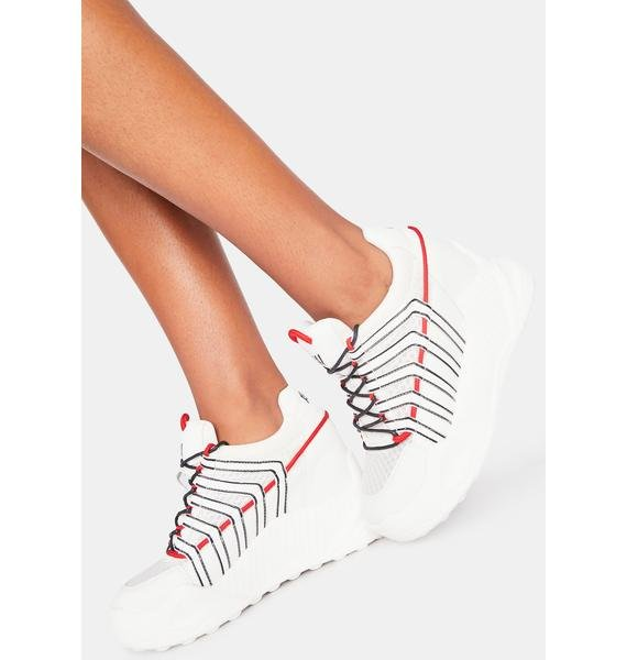 Anthony Wang White Durian Platform Sneakers