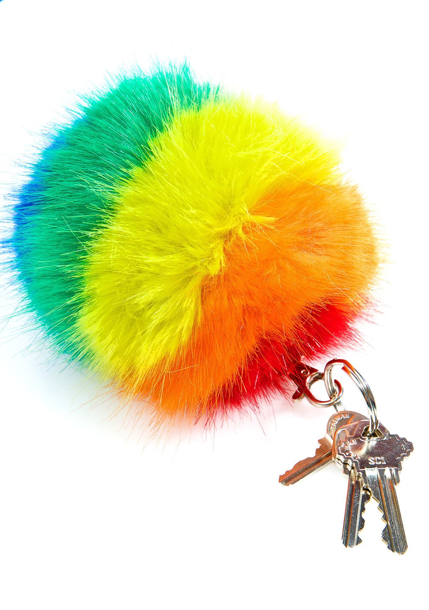 Spectrum Pom Pom Keychain