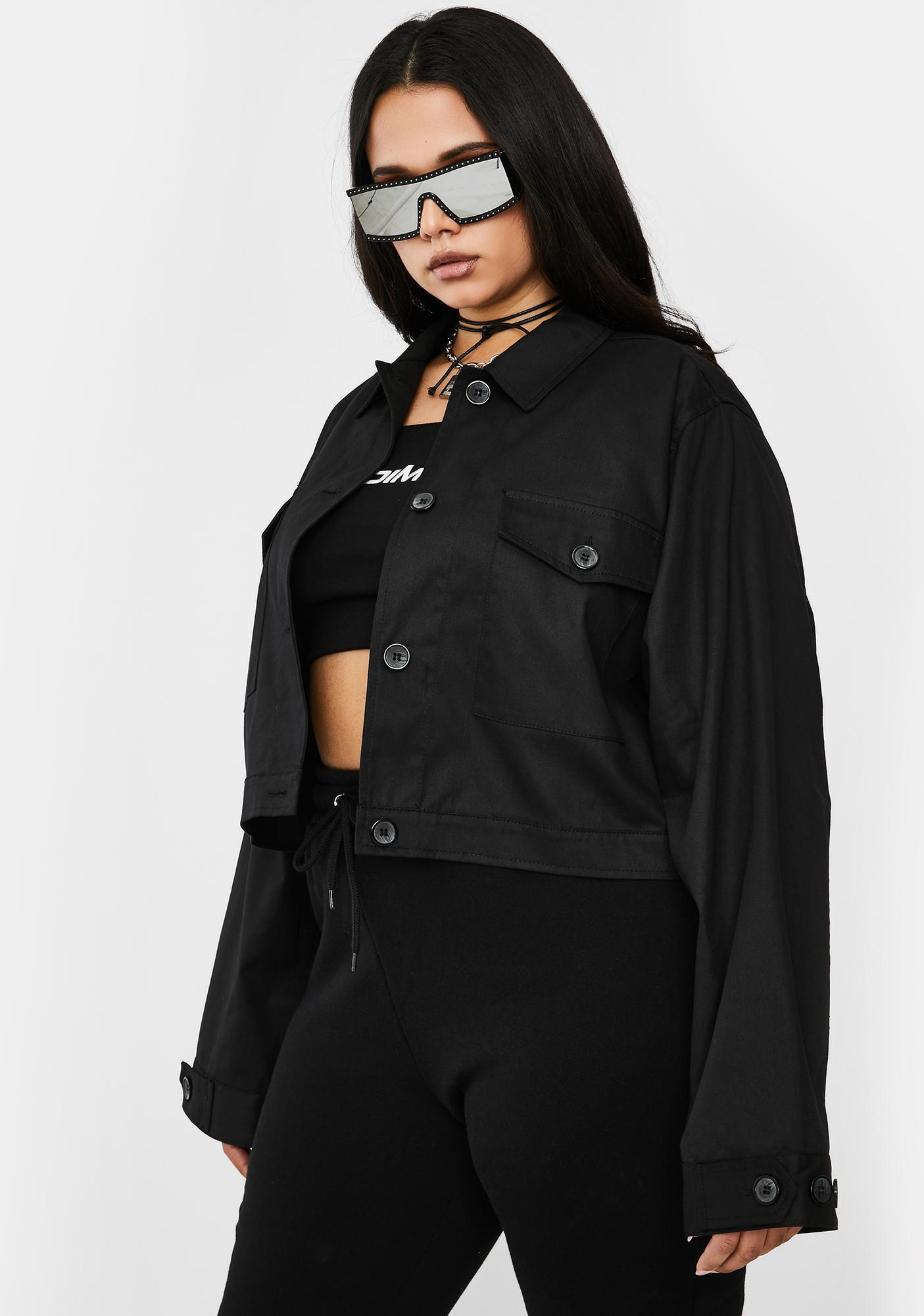 Poster Grl Late Booked Meetings On Rodeo Utility Jacket