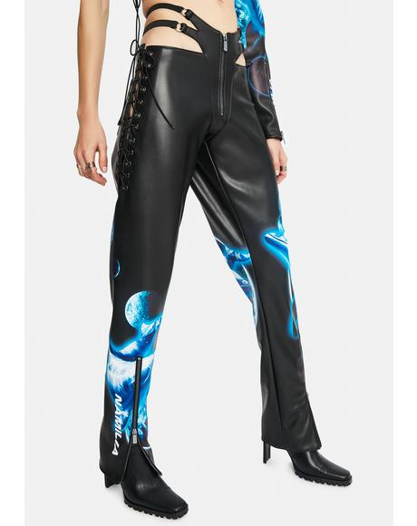 Cyber Dolphin Lace-Up Trousers