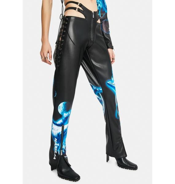 Namilia Cyber Dolphin Lace-Up Trousers