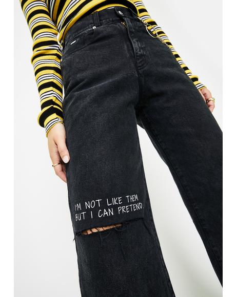 Not Like Them Skater Jeans