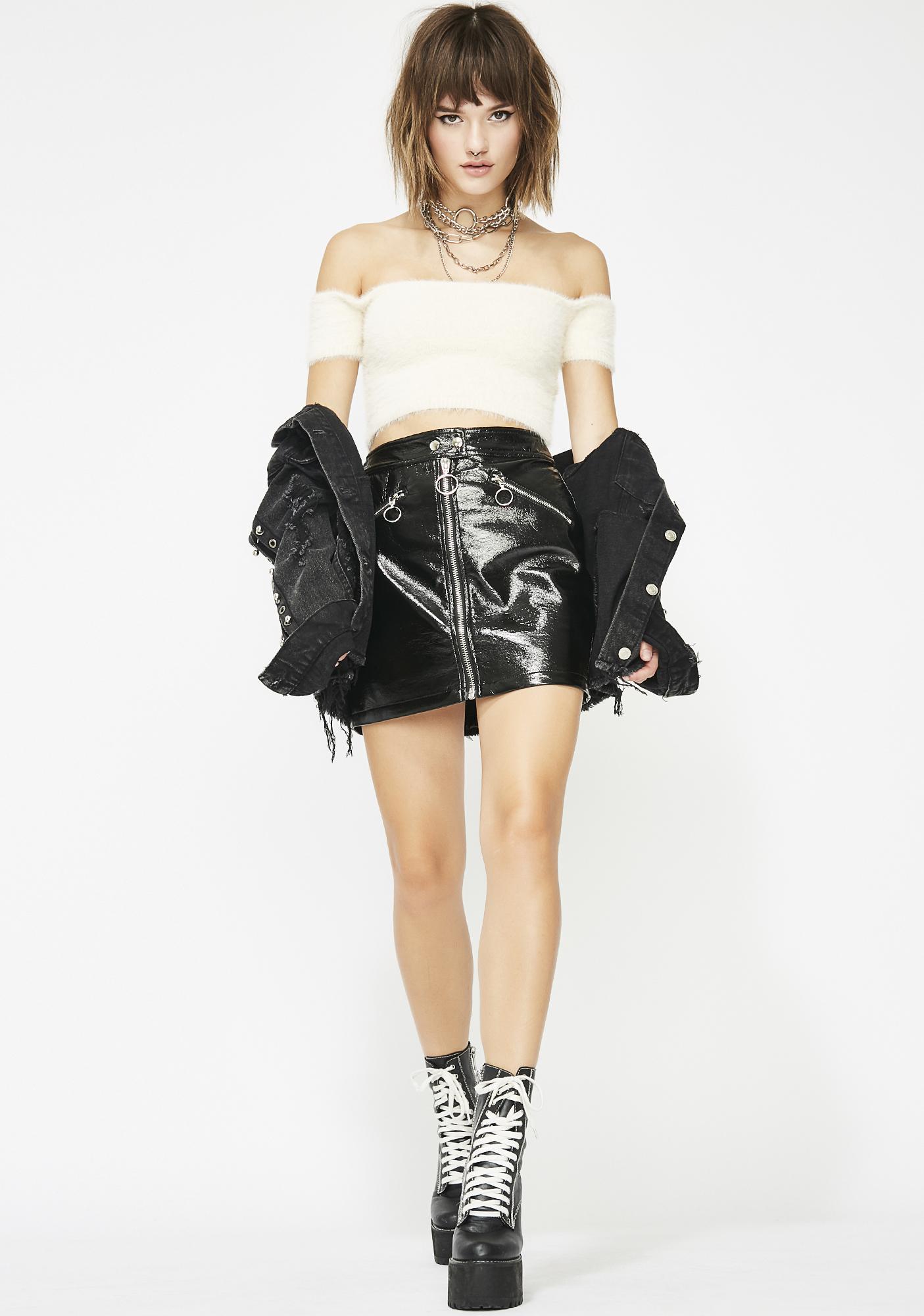 Midnight Rolling Solo Vinyl Skirt