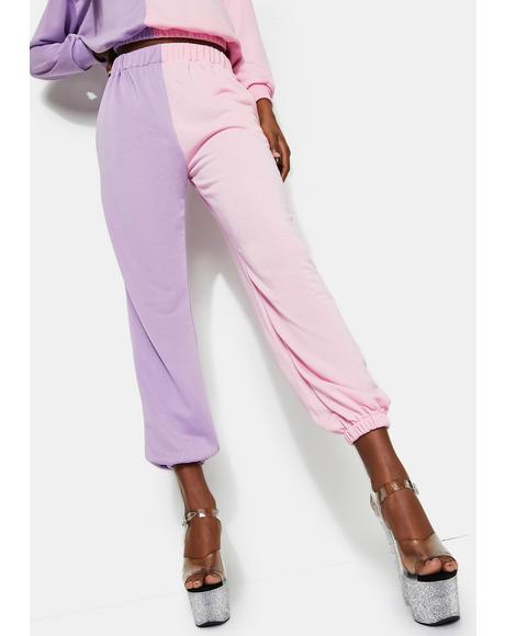 Pink And Lilac Sweatpants