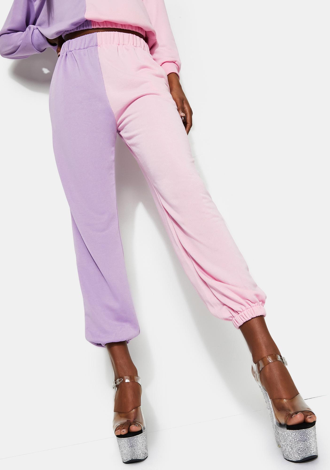 Treasure The Funk Pink And Lilac Sweatpants