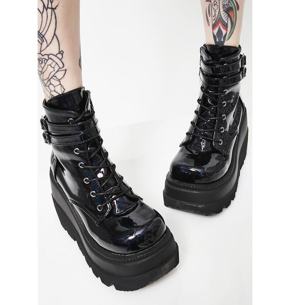 Demonia Dark Prism Technopagan Boots