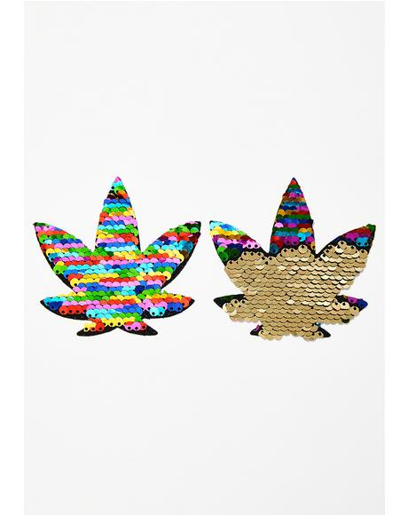 Funfetti Sequins To Gold Weed Leaf Pasties