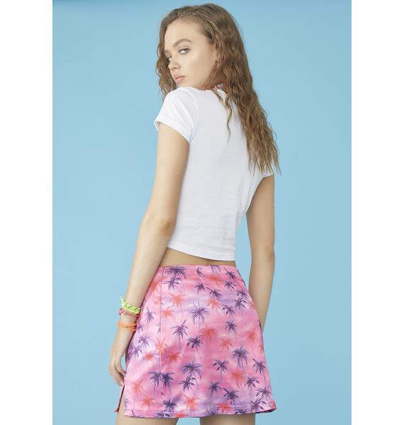 dELiA*s by Dolls Kill Aloha For Now Mini Skirt