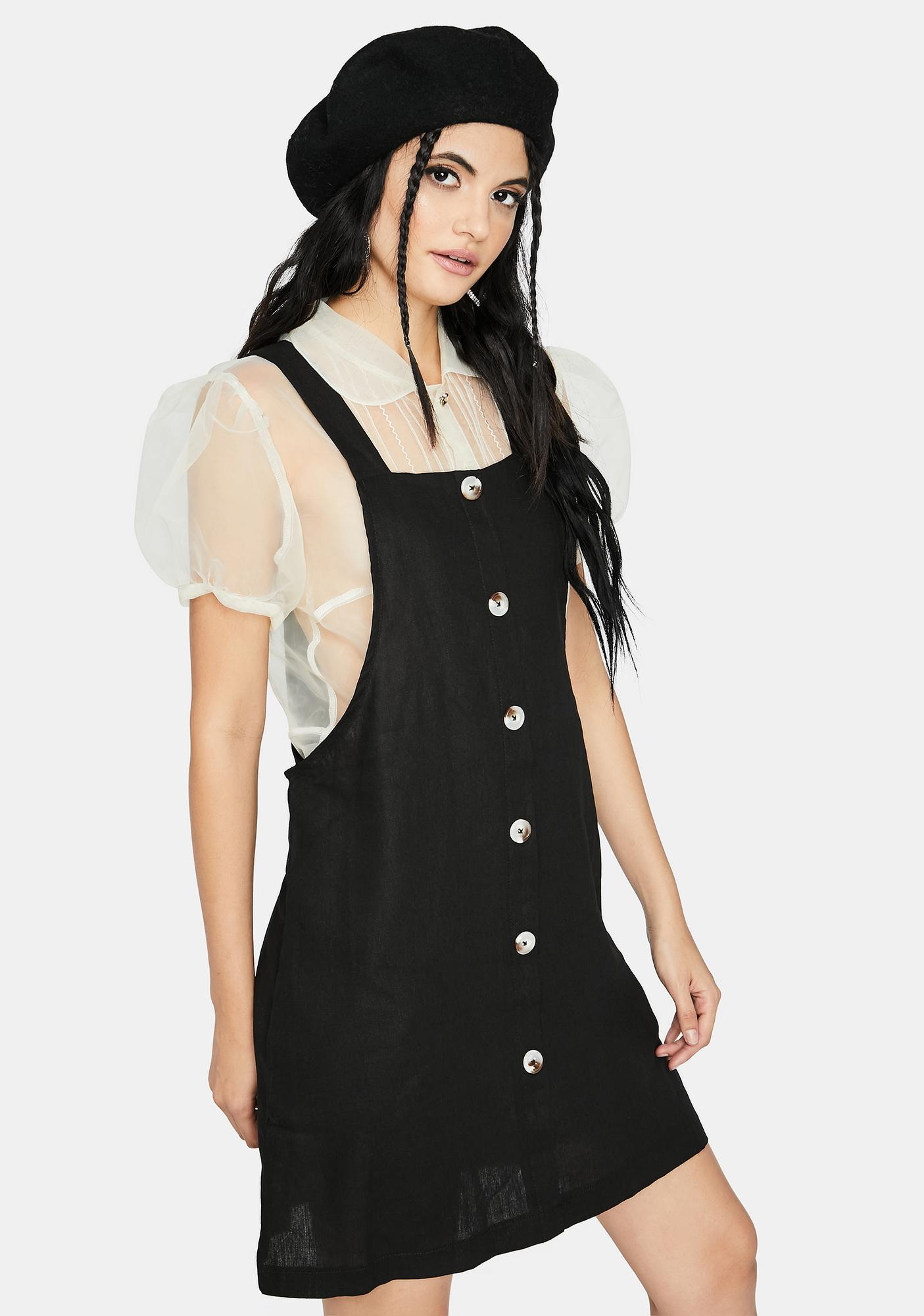 Only Good Vibes Overall Dress