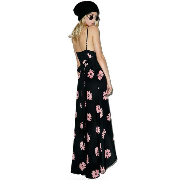 Wildfox Couture Pink Daisy Atlantis Wrap Dress