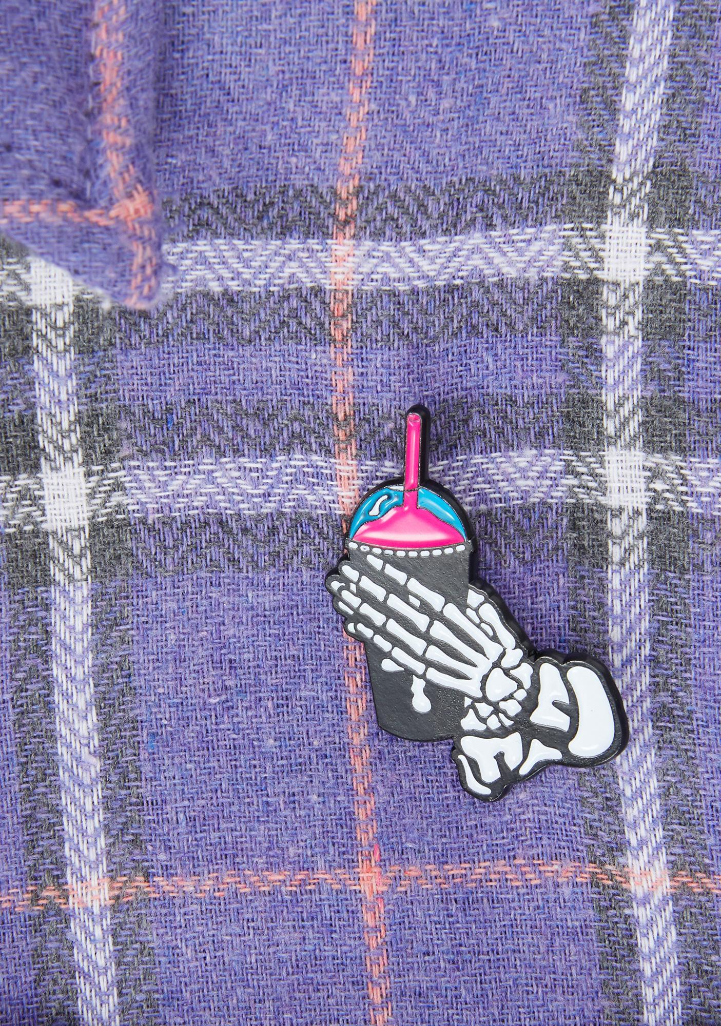 Slushcult Pink Slushgod Bones Pin