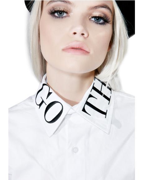 Goth Class Crop Shirt