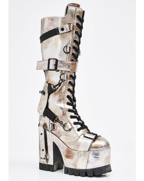 Chrome Wasteland Buckled Boots