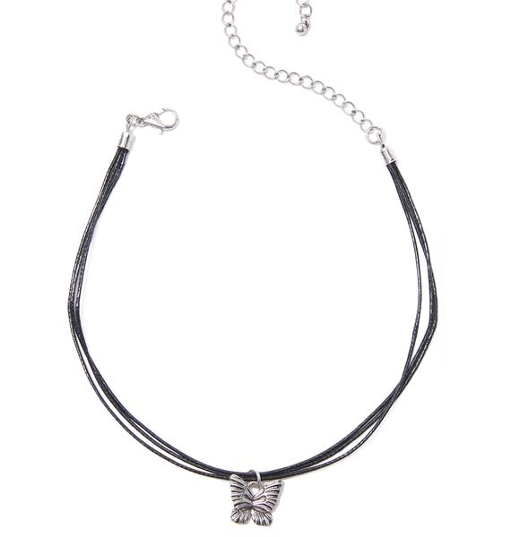 Miss Monarch Pendant Choker