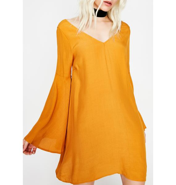 Sweet Hunnie Bell Sleeve Dress