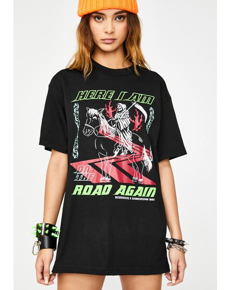 x Boss Dog On The Road Again Graphic Tee