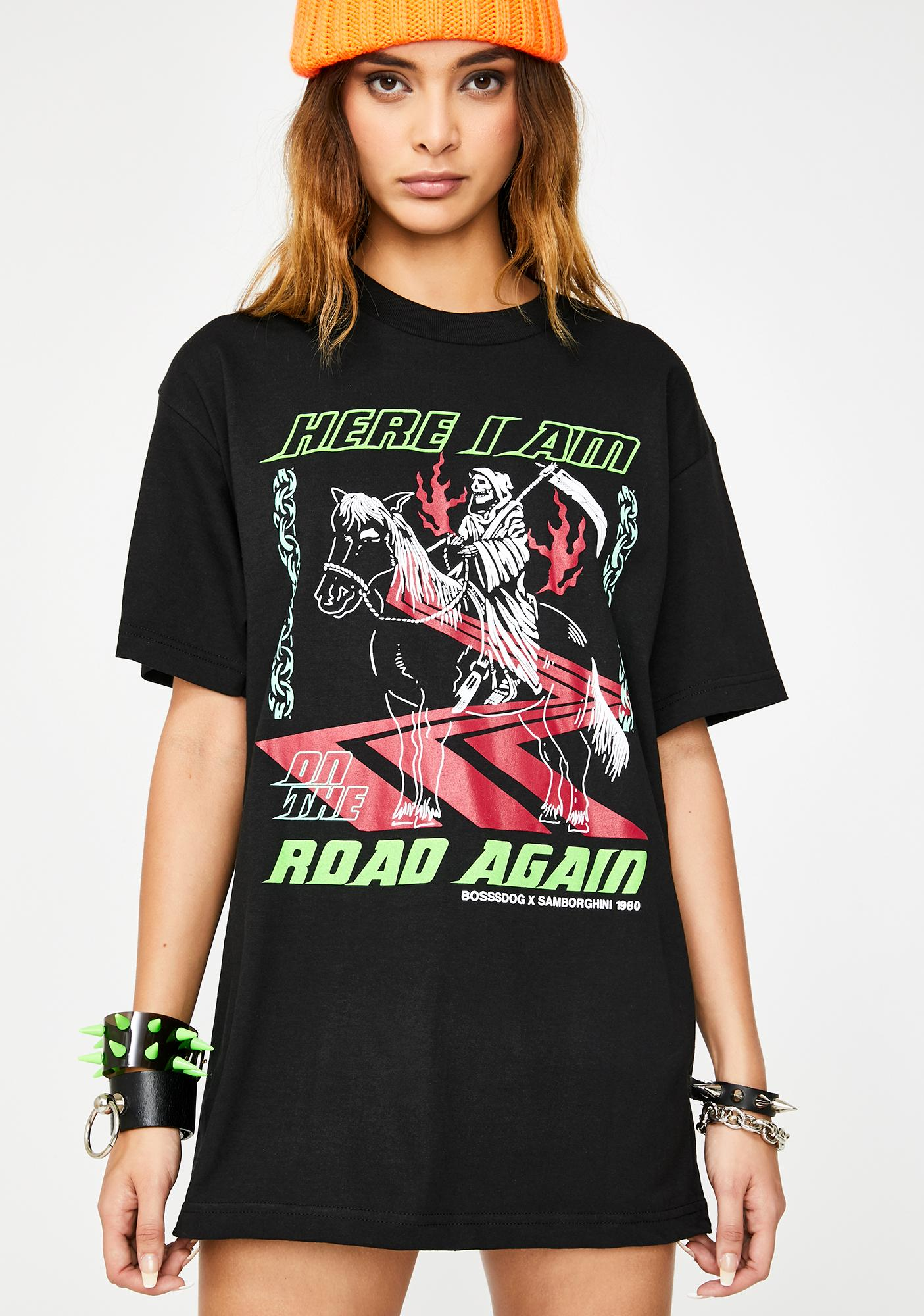 Samborghini x Boss Dog On The Road Again Graphic Tee