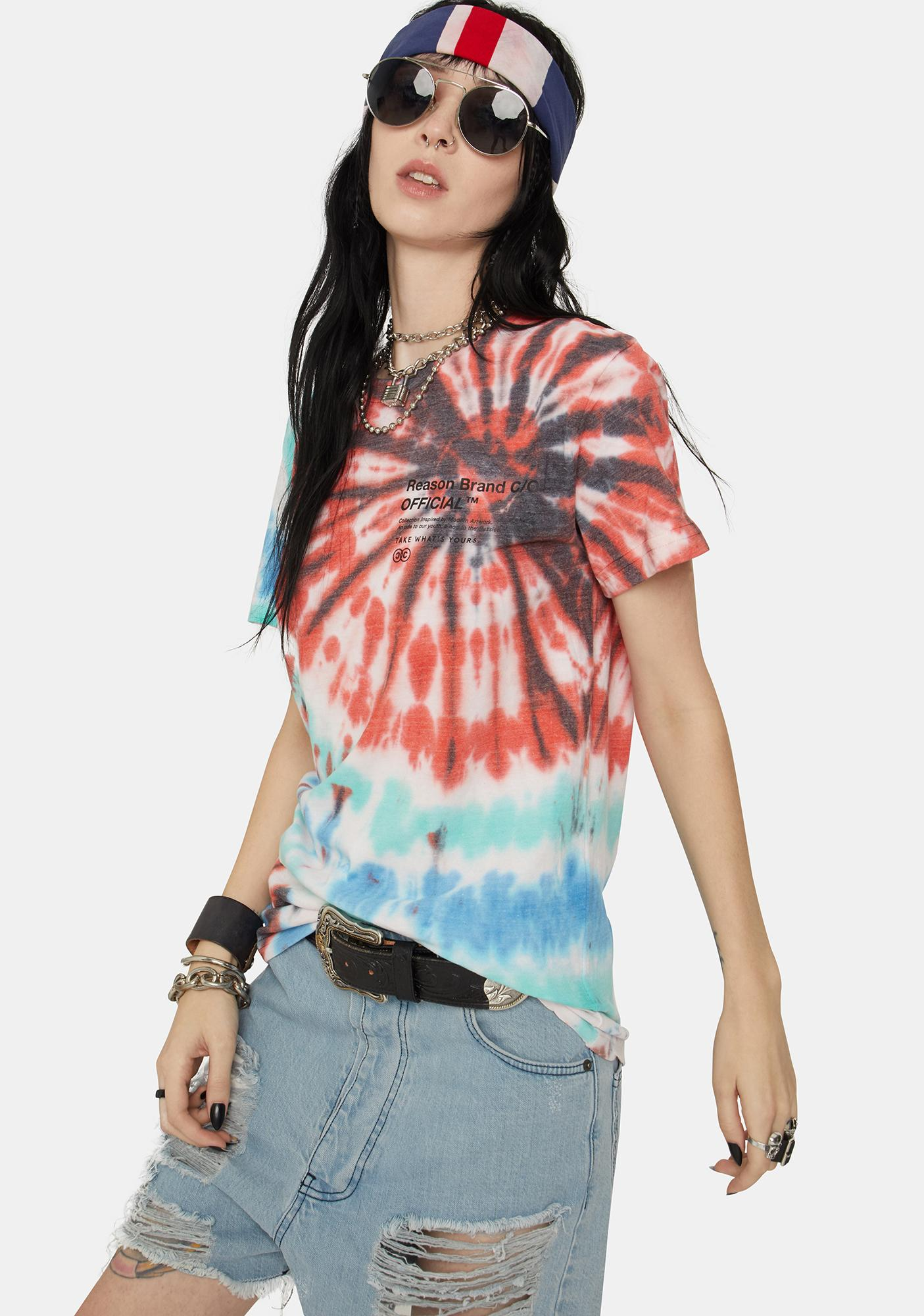 Reason Panther Tie Dye Graphic Tee