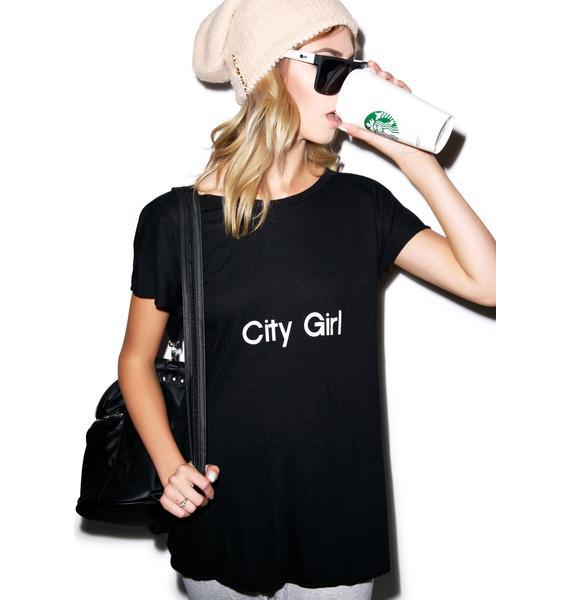 Wildfox Couture City Girl Victorian Crewneck Tee