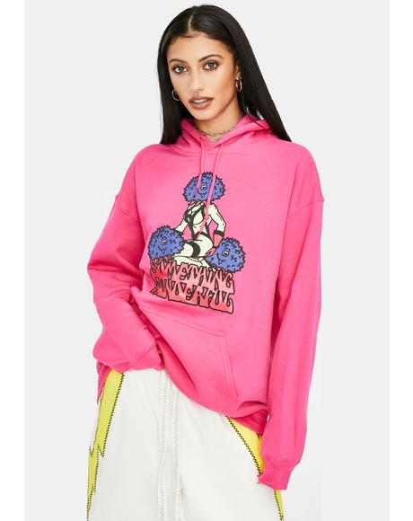 Pink Three's Company Graphic Hoodie