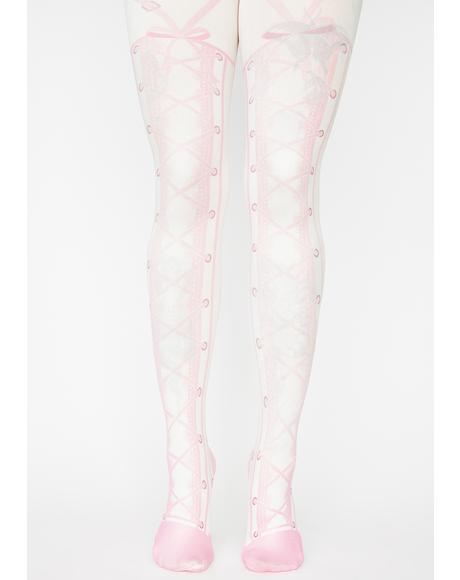 Perfect Plie Printed Tights