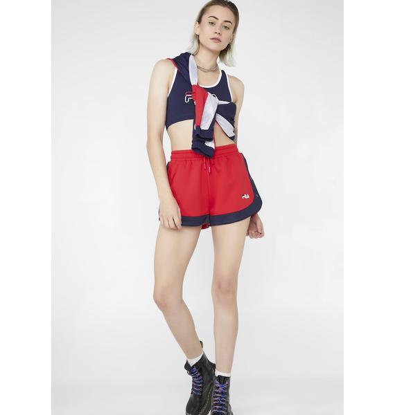Fila Danita Side Snap Shorts